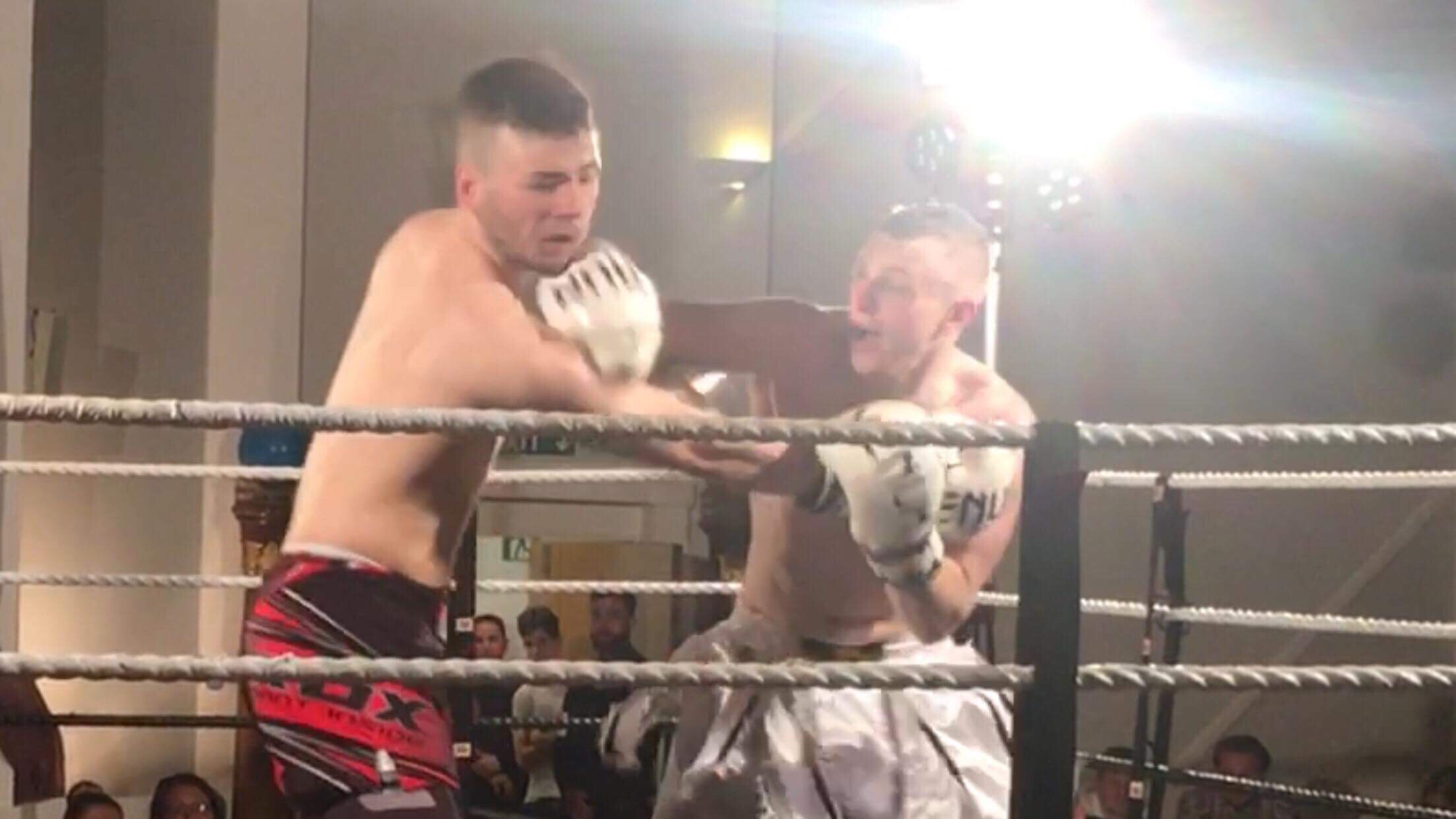 Dan's the man – he takes just 45 seconds to dispose of his opponent