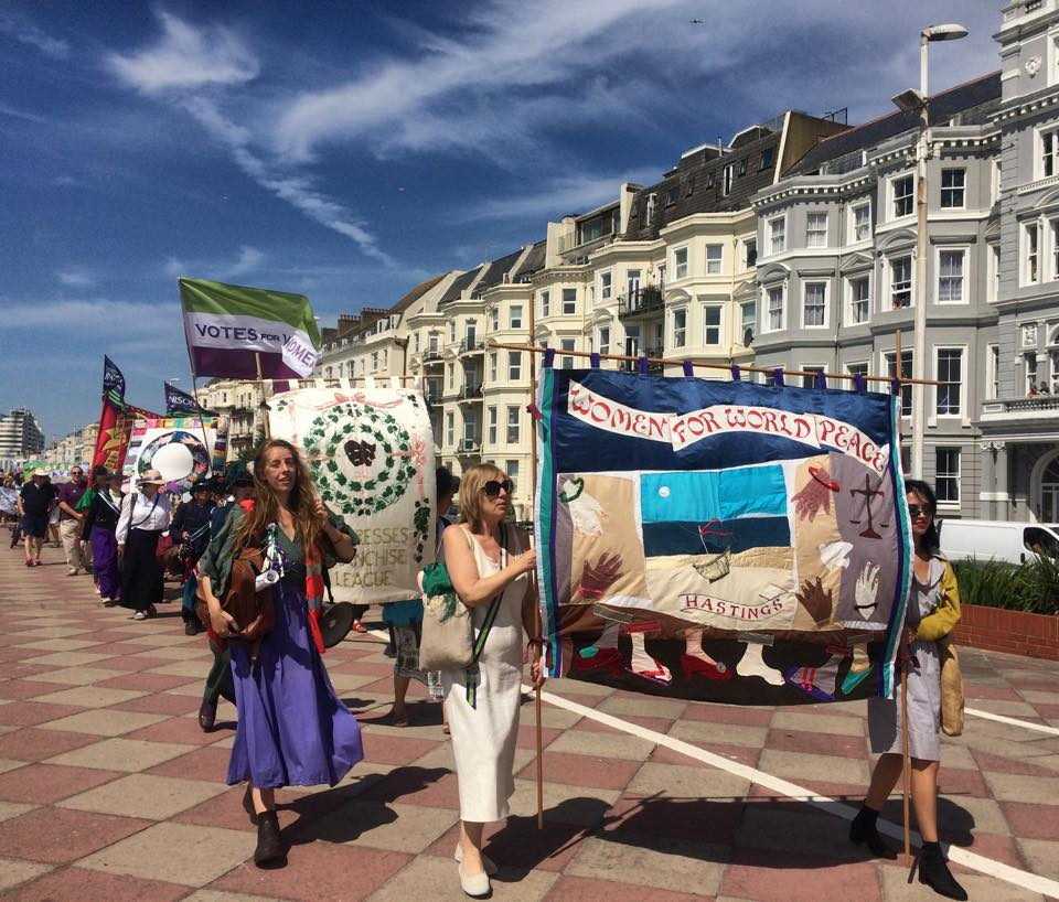 Seafront march celebrates 100th anniversary of votes for women