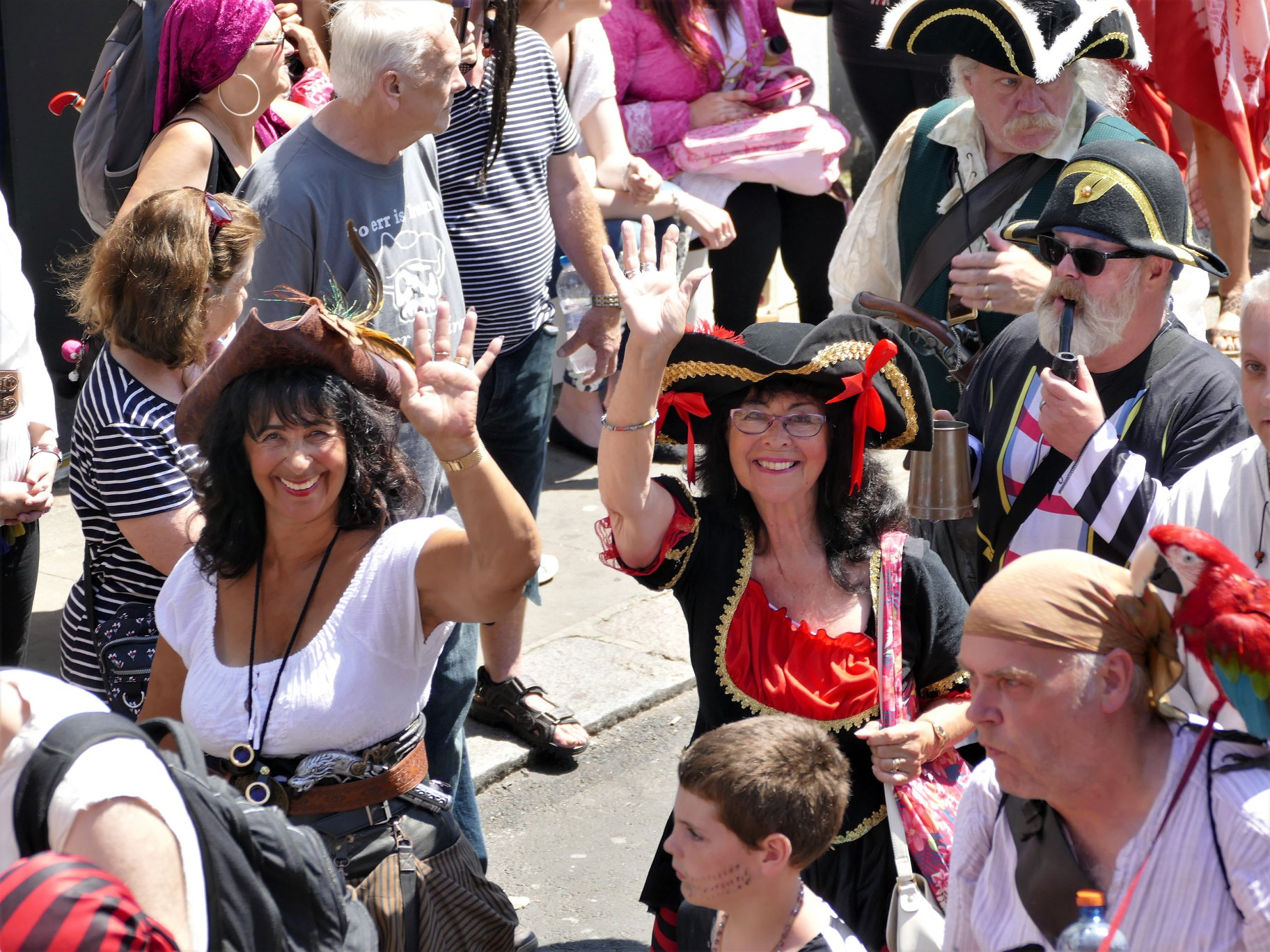 Ahoy, Me hearties. Chanties were sung, carousing was done t'was Pirate Day in ol' 'astings town