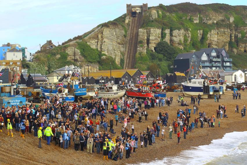 Hastings' new Shannon class lifeboat welcomed to its new home