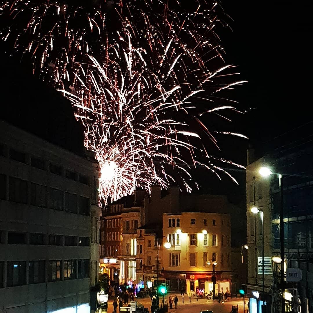Scene around… Hastings' big bang night!