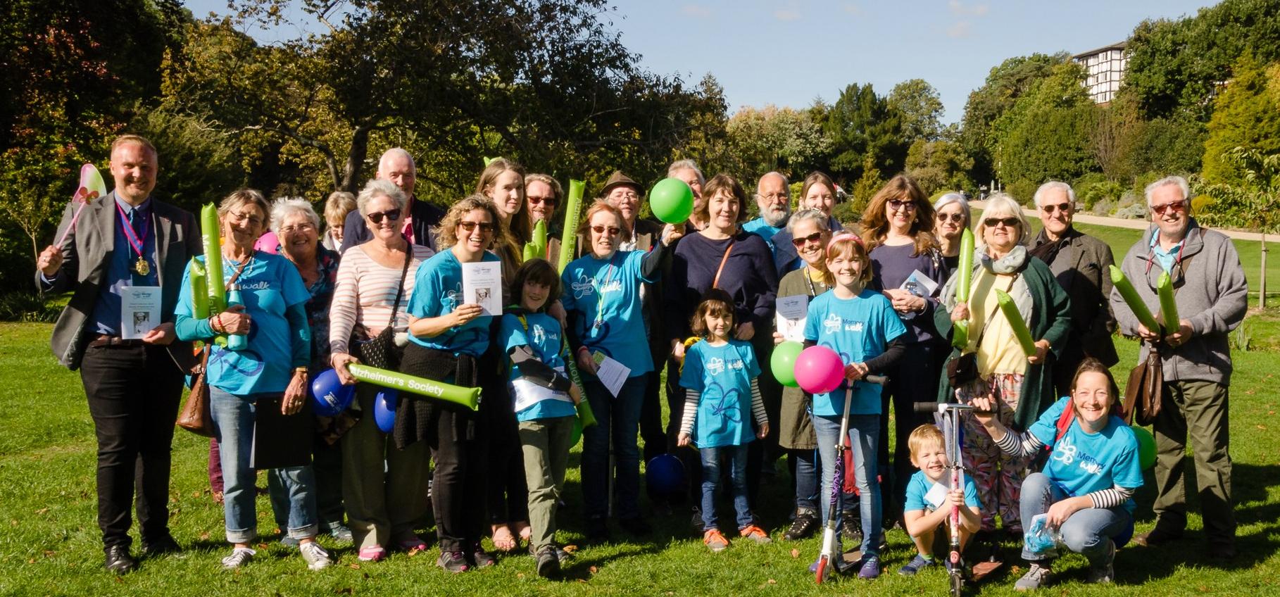 Jay's Alexandra Park memory walk is a huge success
