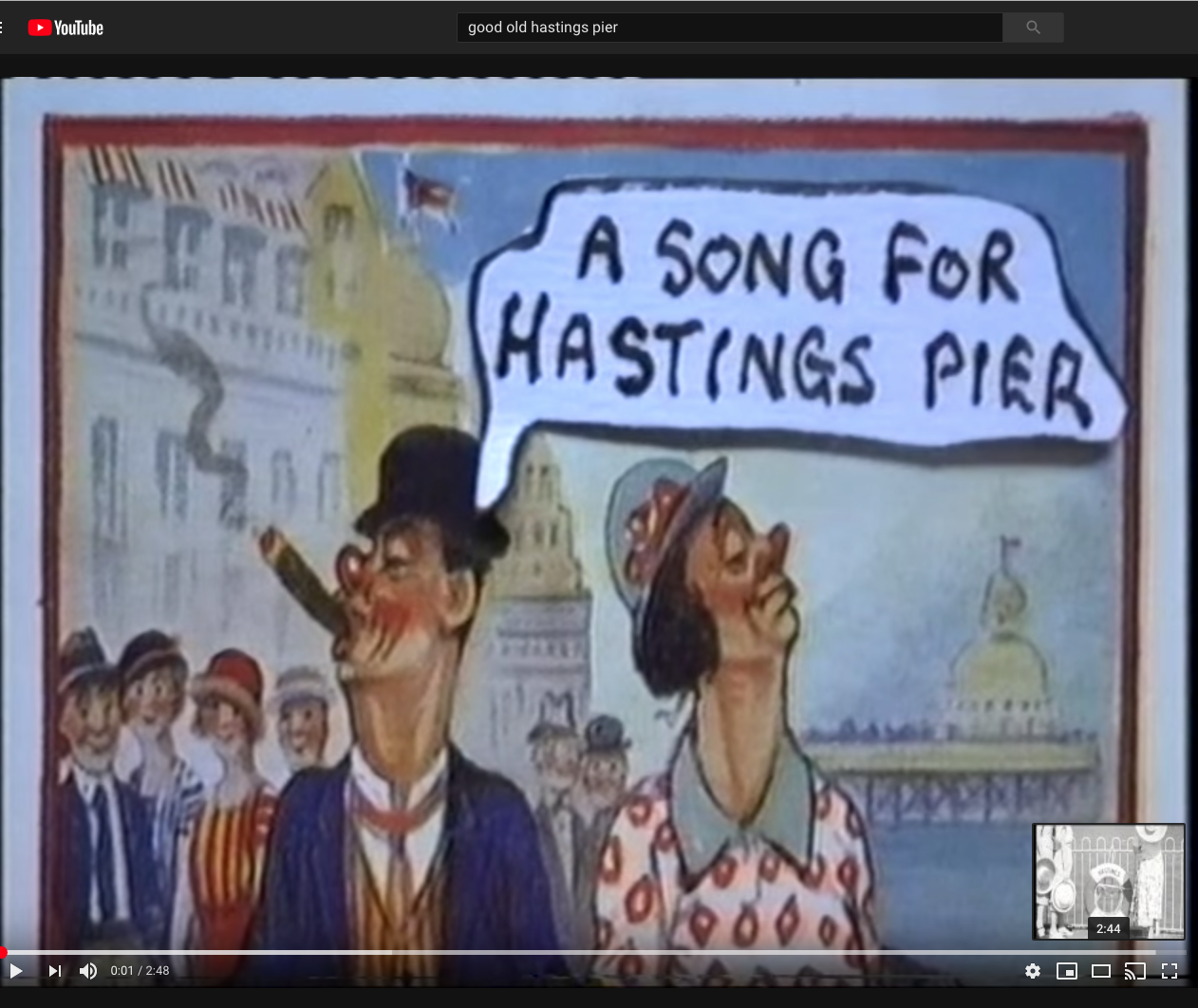 Hastings on YouTube – just what you need on a wet and windy day