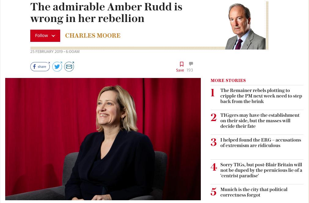 Making the news – Amber Rudd is hitting the headlines again