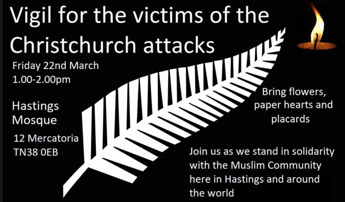 Support for the victims of New Zealand attacks right here in our town