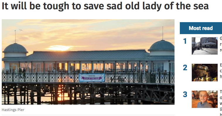 Can Mr Gulzar perform a miracle on Hastings Pier?