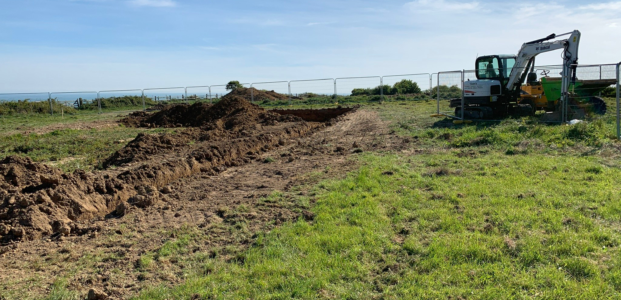 The earth's moved in Hastings Country Park