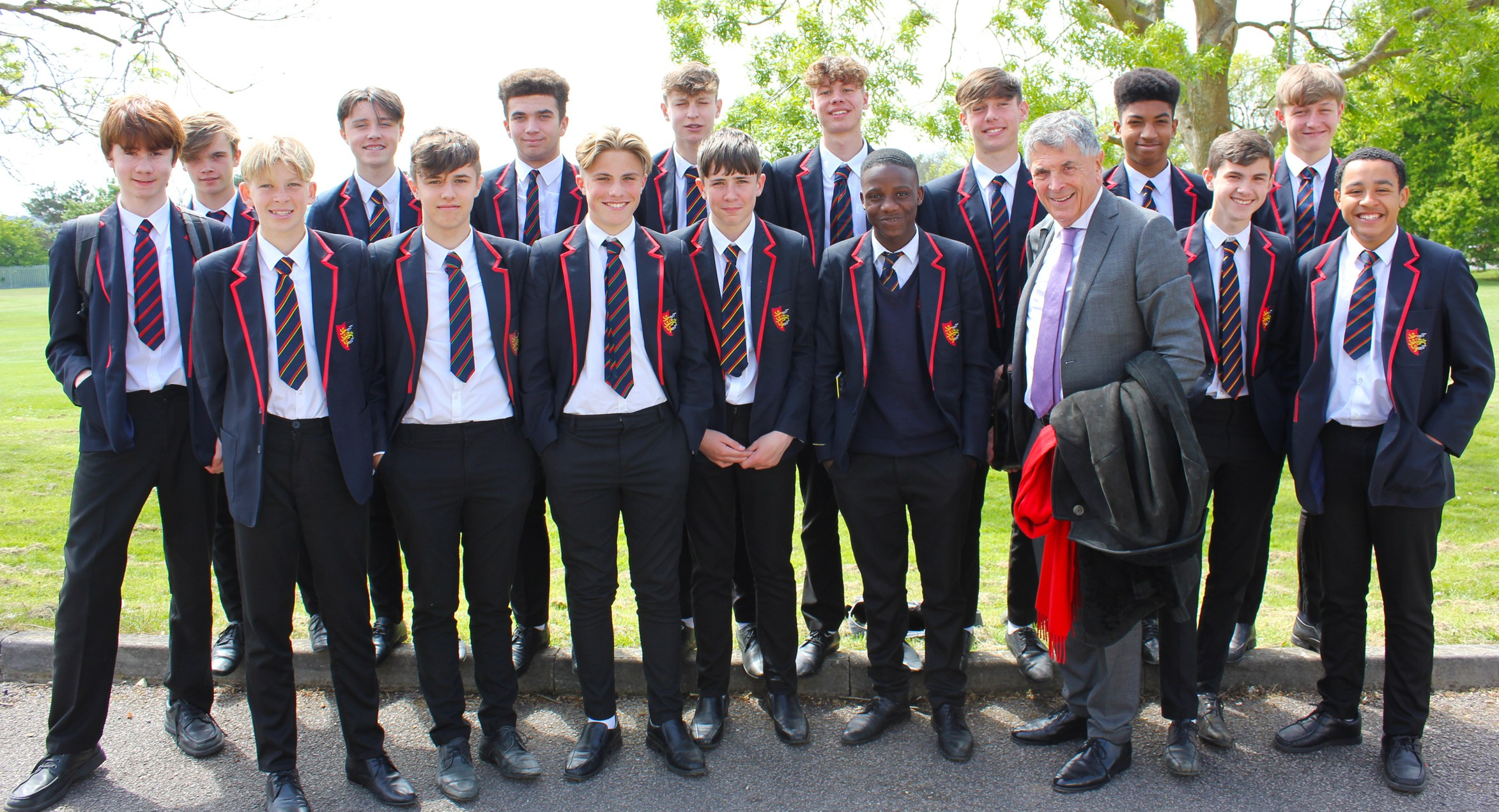 Football boss inspires 'Parker' students