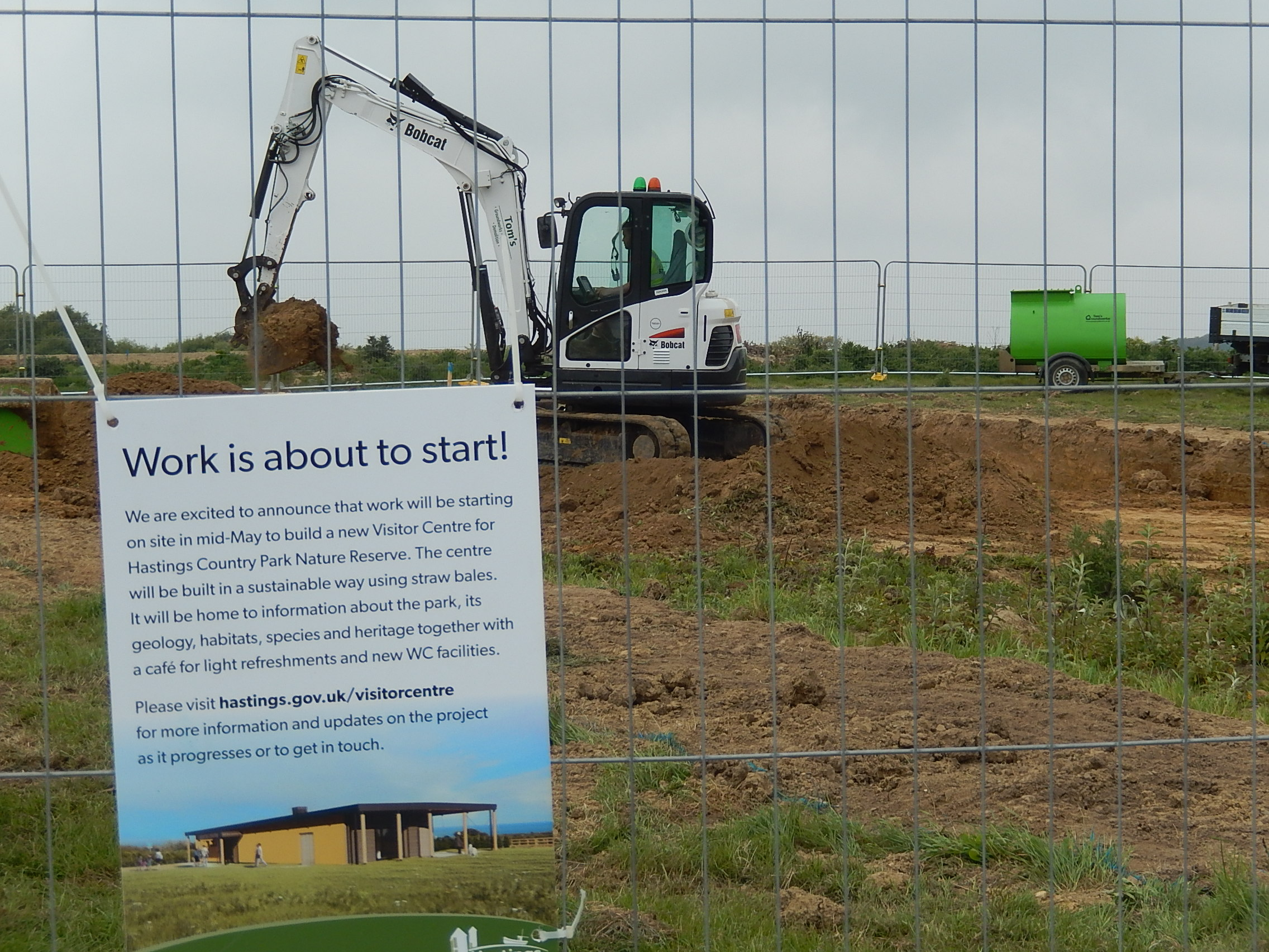 Council's official statement – straw bale visitor centre gets underway