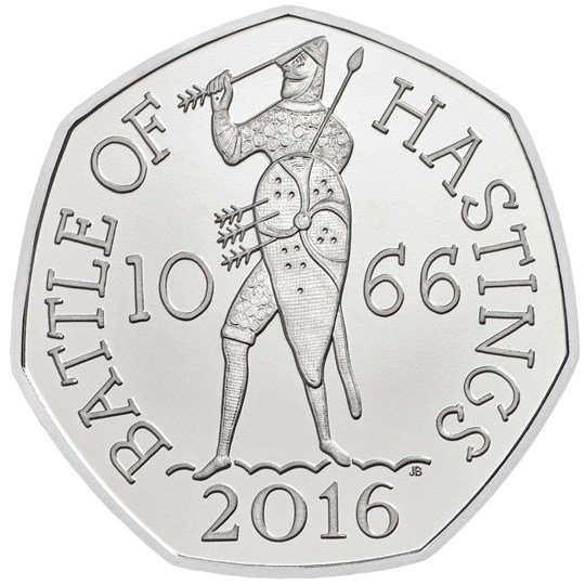 Battle of Hastings 50p piece
