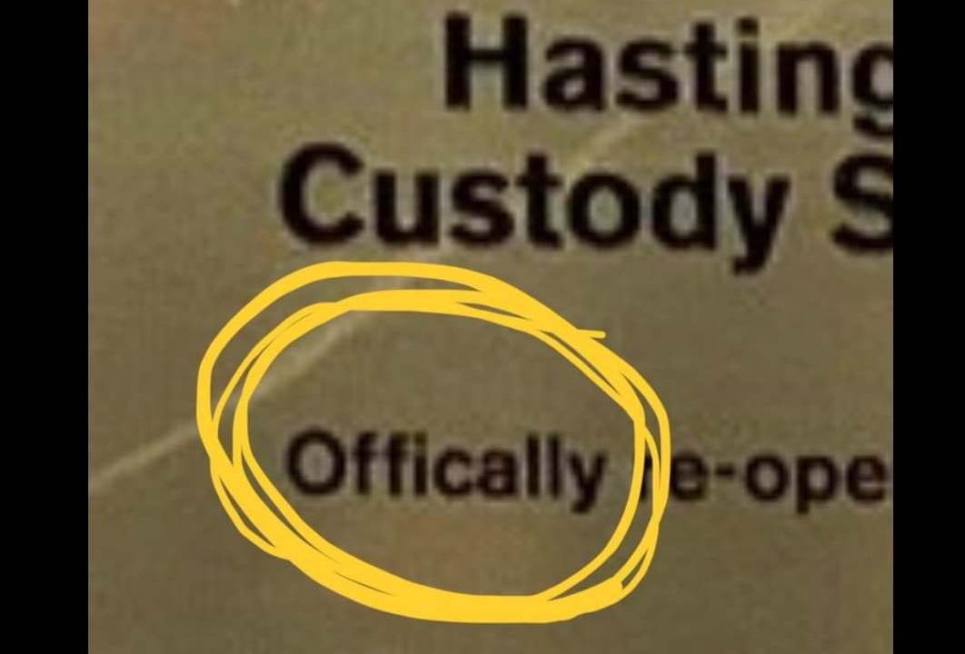 Well spotted – reader finds glaring error on Police station plaque