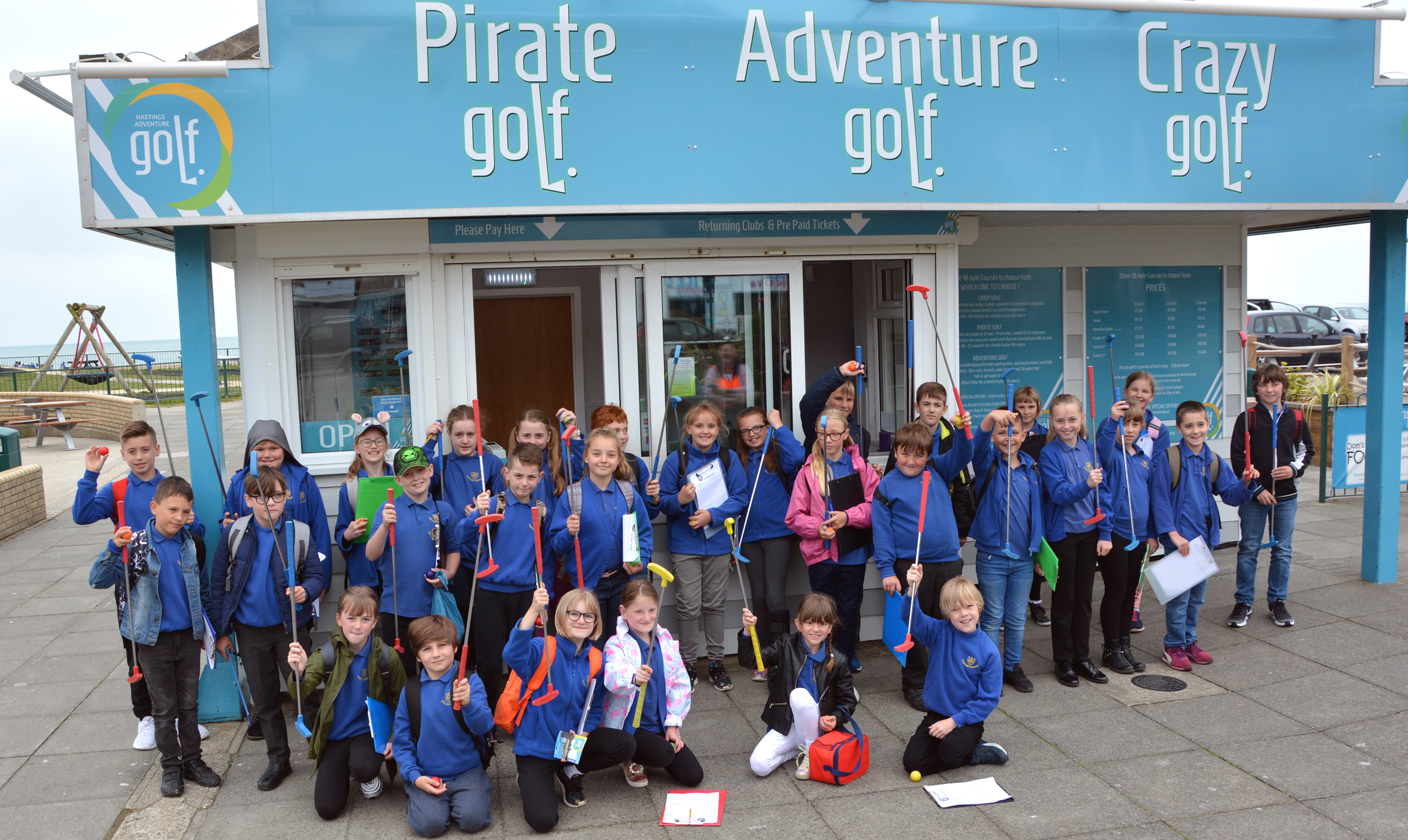 Crazy golf helps youngsters apply their maths