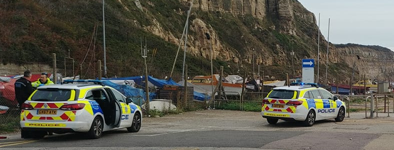 Suspected 'illegal immigrants' land on Hastings beach
