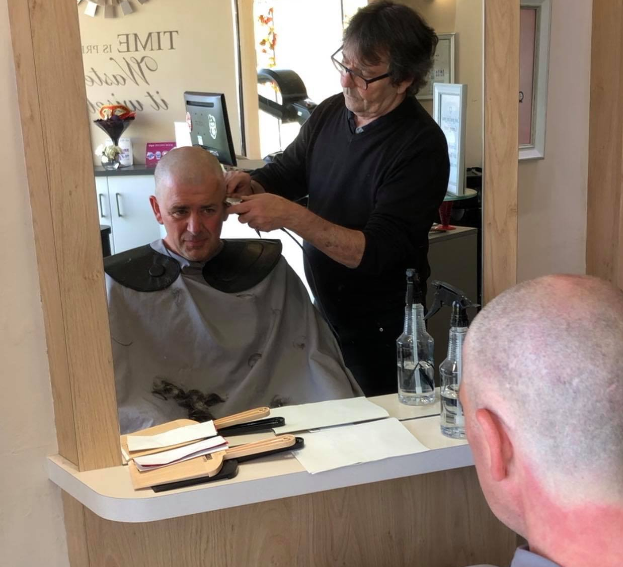 In the name of art and charity Hastleonian Steve gets 'the chop'