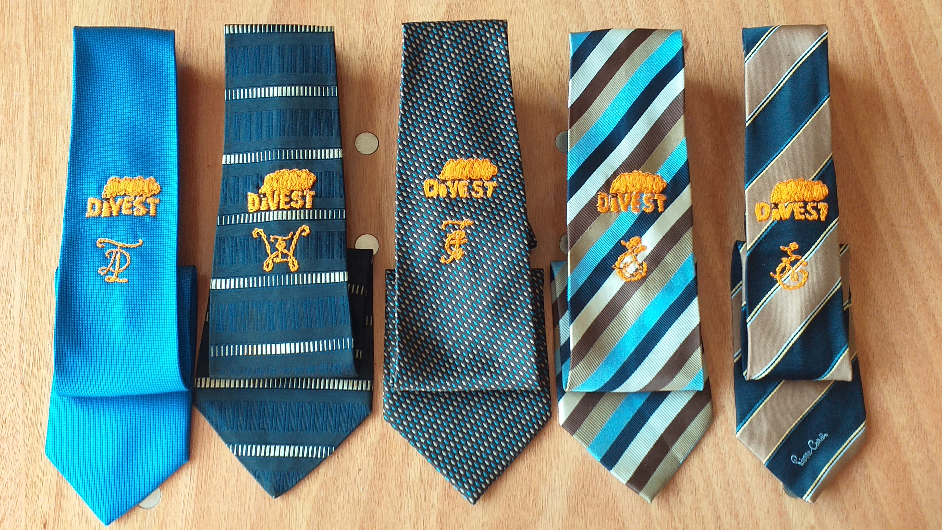 Hand-embroidered ties deliver climate message to councillors