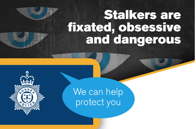 Police in Sussex to lead the way over new Stalking Protection law