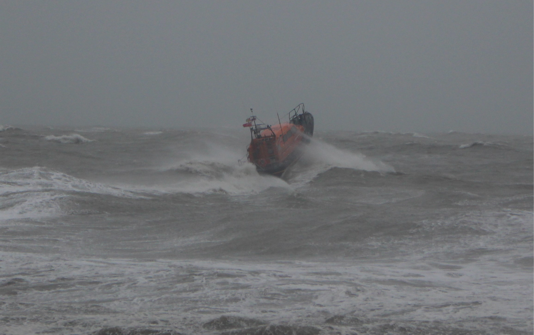 For those in peril on the sea! Last week's lifeboat drama in pictures…