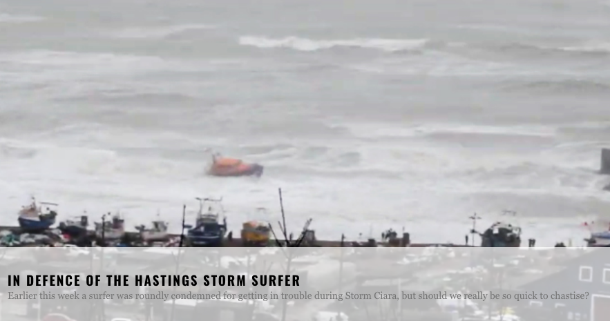 In defence of the 'Hastings storm surfer'… surfing magazine says incient was 'probably not' life-threatening