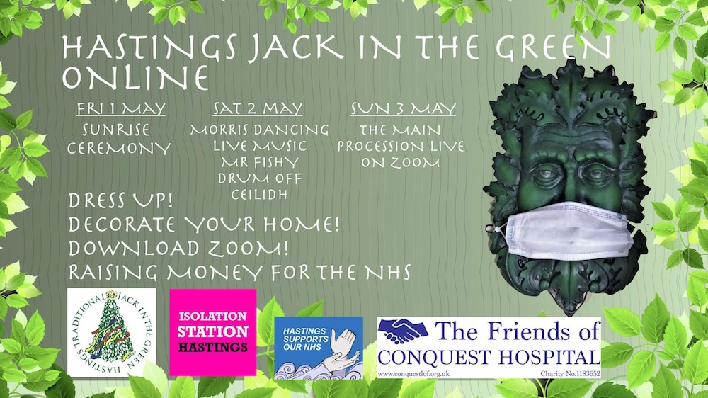 Adapting to circumstance… Hastings Jack In The Green goes online to support the NHS