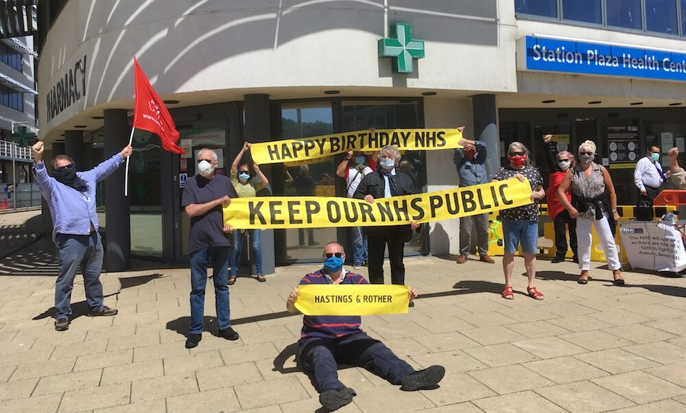 Hastings launch for the Keep NHS Public campaign
