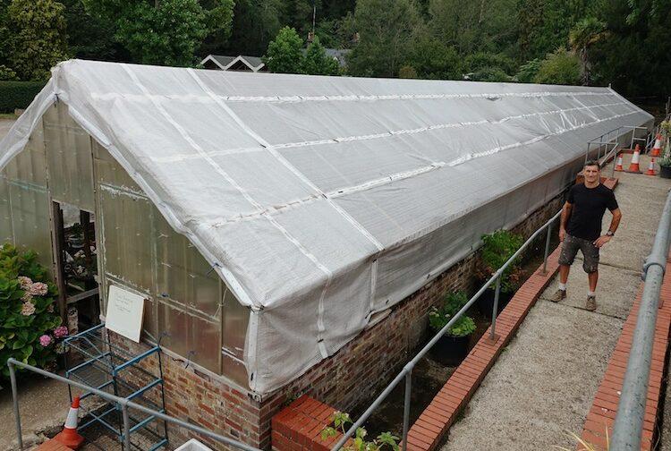Jason's award-winning skills will restore greenhouse to its former glory