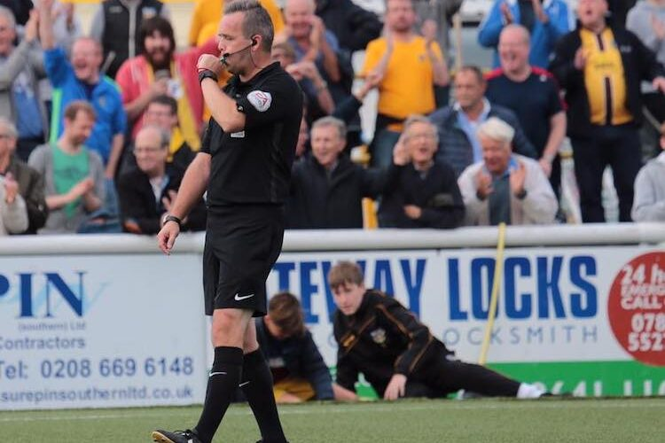 Referee Carl scores his 'ultimate' goal