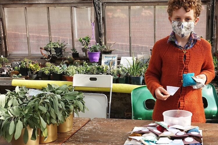 Green-fingered Toby's hard work provides cash for park's greenhouse project
