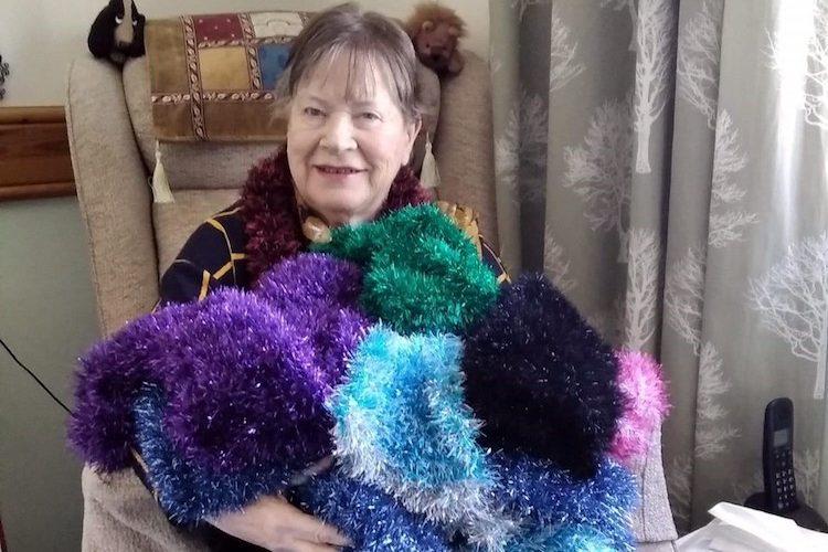 Nimble fingered Georgie's lockdown knitting raises funds for hospice
