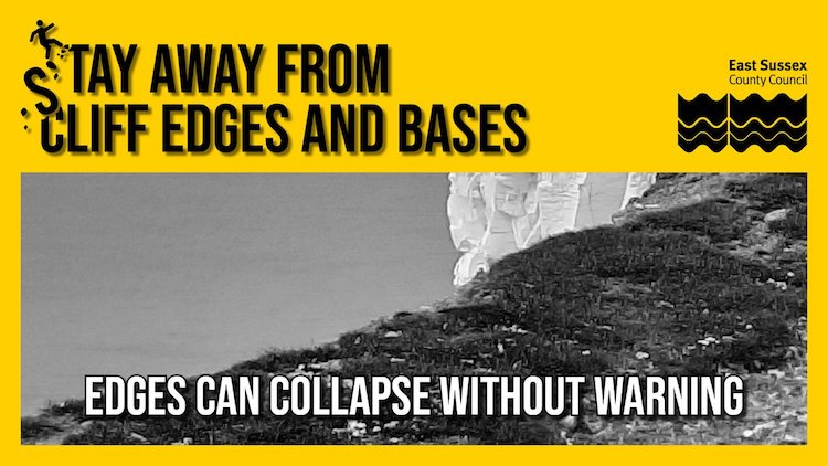 Stay away from the edge! Council warns of coastline dangers