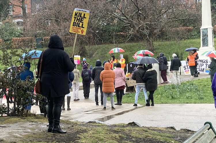 'Kill the bill' protestors stage peaceful protest in the park