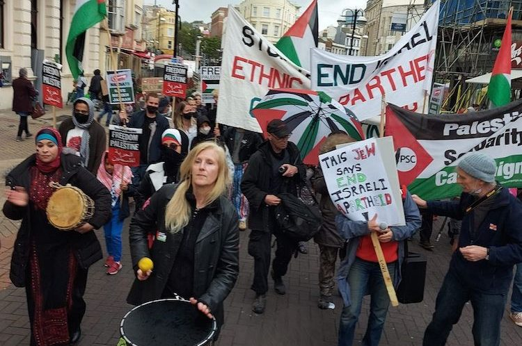 Hastings and Rye Palestine Solidarity Campaign's march through Hastings