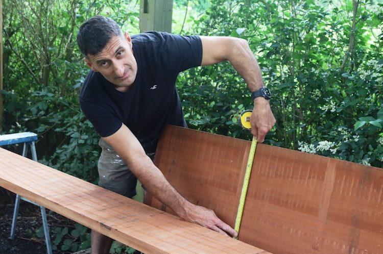 Work gets underway – Jason is 'raising the roof' in Alexandra Park