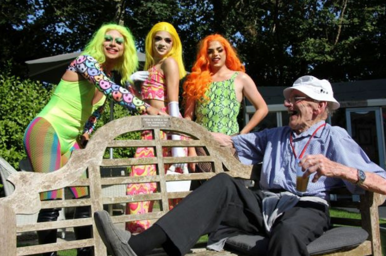 Drag queens bring Hastings Pride to care home's back garden